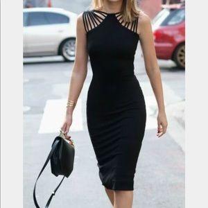 Black midi dress - size L